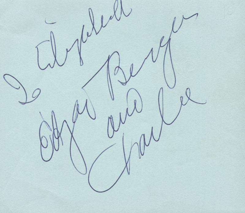 Image 1 for Edgar Bergen - Inscribed Signature co-signed by: Charlie Mccarthy, Ilka Chase - HFSID 590