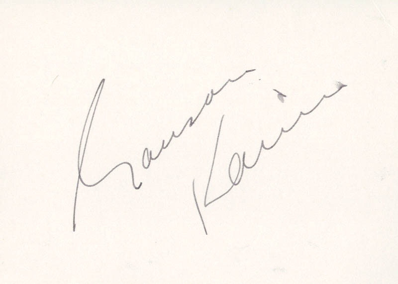 Image 1 for Garson Kanin - Autograph - HFSID 59003