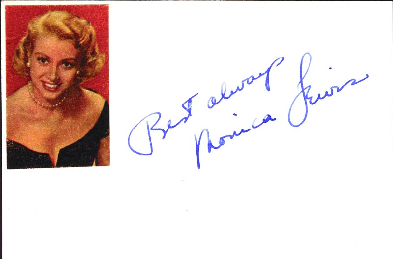 Image 1 for Monica Lewis - Autograph Sentiment Signed - HFSID 59031