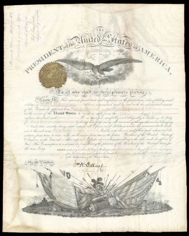 Image 3 for President Ulysses S. Grant - Military Appointment Signed 03/13/1875 with co-signers - HFSID 5903