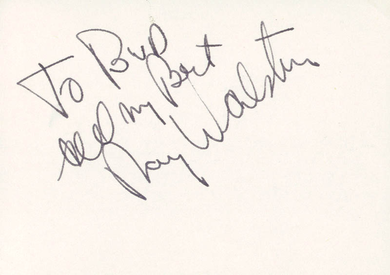 Image 1 for Ray Walston - Autograph Note Signed - HFSID 59045