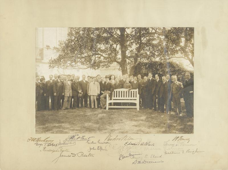 Image 1 for President Woodrow Wilson - Photograph Mount Signed with co-signers - HFSID 5911