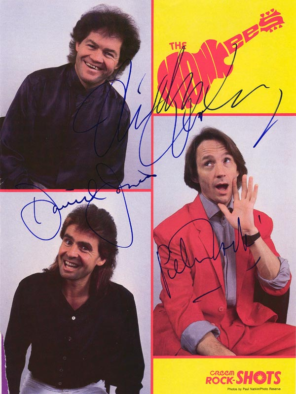 Image 1 for The Monkees - Magazine Photograph Signed co-signed by: The Monkees (Davy Jones), The Monkees (Mickey Dolenz), The Monkees (Peter Tork) - HFSID 59136