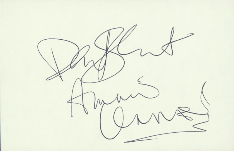 Image 1 for The Eurythmics - Autograph co-signed by: The Eurythmics (Annie Lennox), The Eurythmics (David Stewart) - HFSID 59209