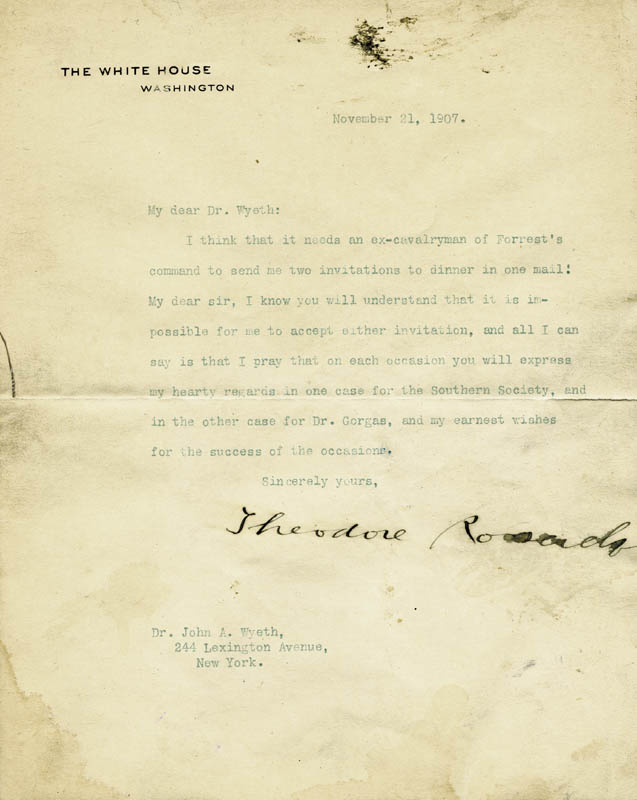 Image 1 for President Theodore Roosevelt - Typed Letter Signed 11/21/1907 - HFSID 5926