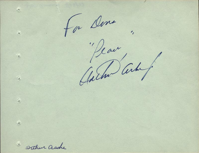 Image 1 for Arthur Ashe - Autograph Note Signed co-signed by: Don Ameche - HFSID 59334