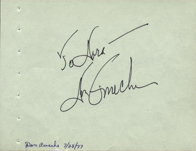 Image 3 for Arthur Ashe - Autograph Note Signed co-signed by: Don Ameche - HFSID 59334