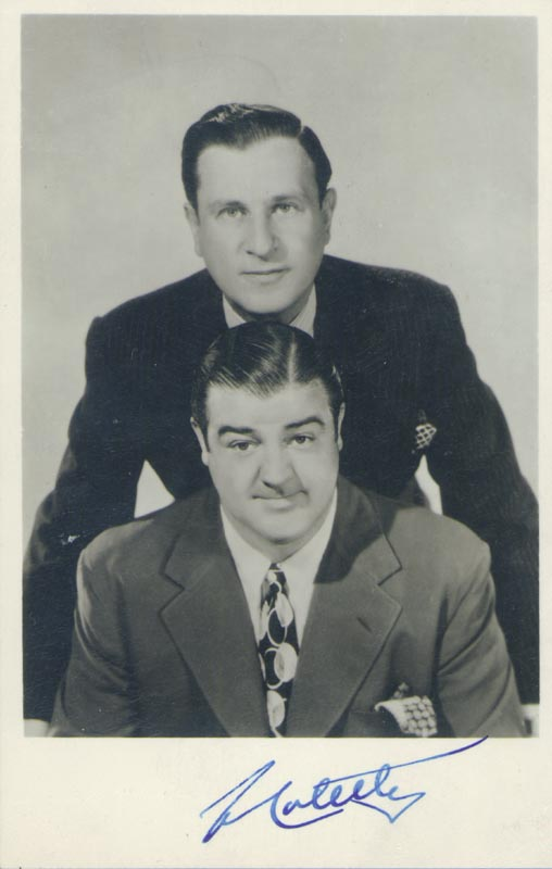 Image 1 for Abbott & Costello (Lou Costello) - Autographed Signed Photograph - HFSID 5938