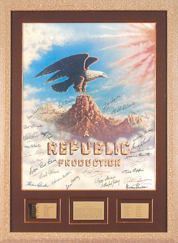 Image 1 for Republic Pictures - Autographed Signed Poster with co-signers - HFSID 59454