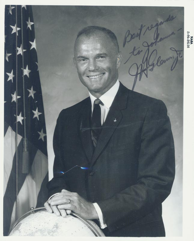 Image 1 for John Glenn - Autographed Inscribed Photograph - HFSID 5962