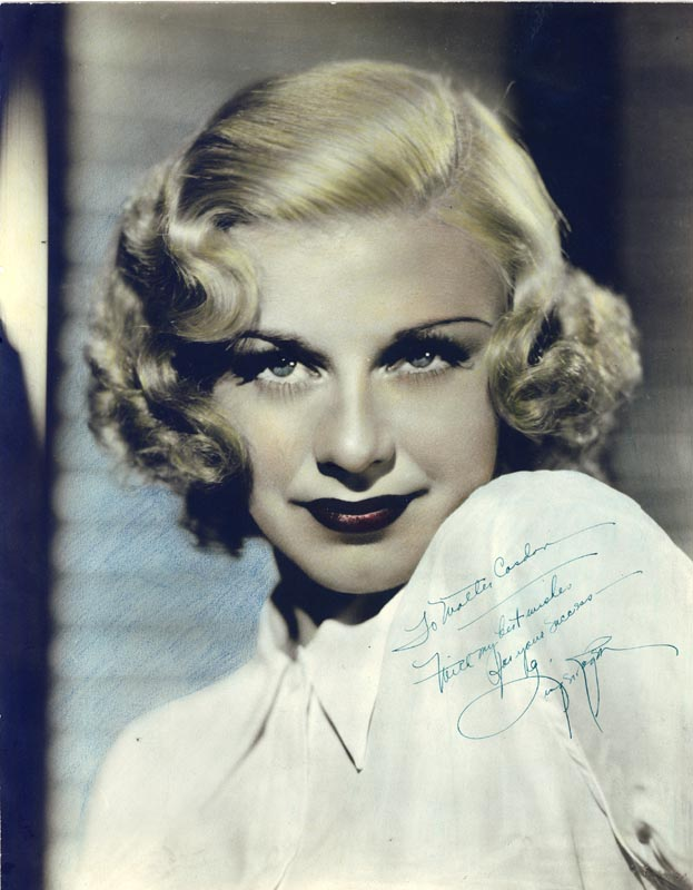 Image 1 for Ginger Rogers - Autographed Inscribed Photograph - HFSID 597