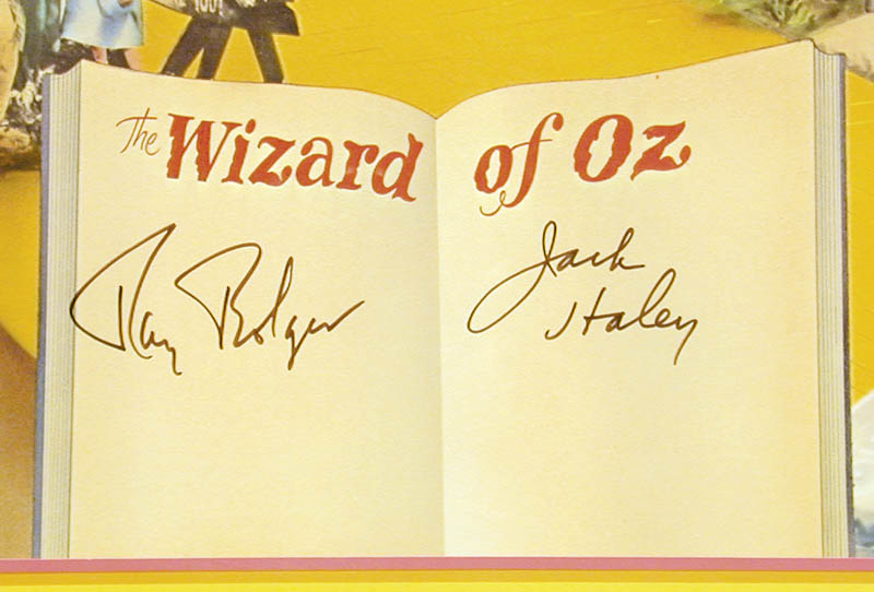 Image 3 for Wizard Of Oz Movie Cast - Autographed Signed Poster co-signed by: Jack Haley Sr., Ray Bolger - HFSID 59718