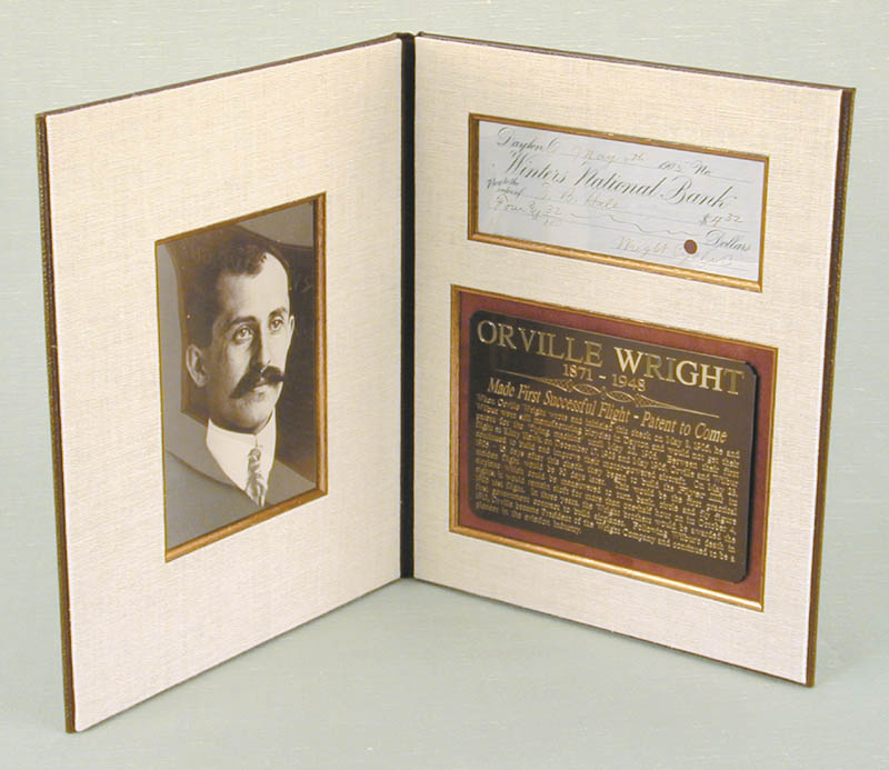 Image 1 for Orville Wright - Check Signed-wright Cycle/Orville Wright 05/08/1905 co-signed by: Frank B. Hale - HFSID 6066