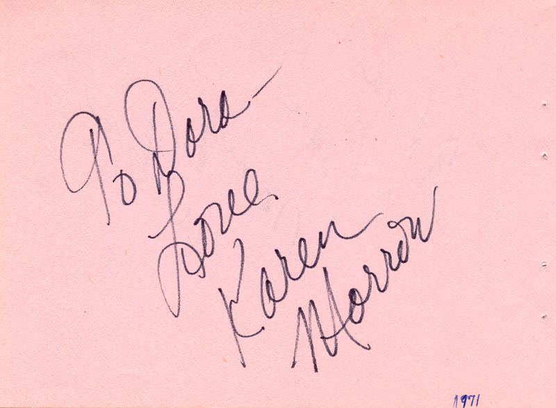 Image 3 for Nancy Wilson - Autograph Note Signed Circa 1971 co-signed by: Karen Morrow - HFSID 63277