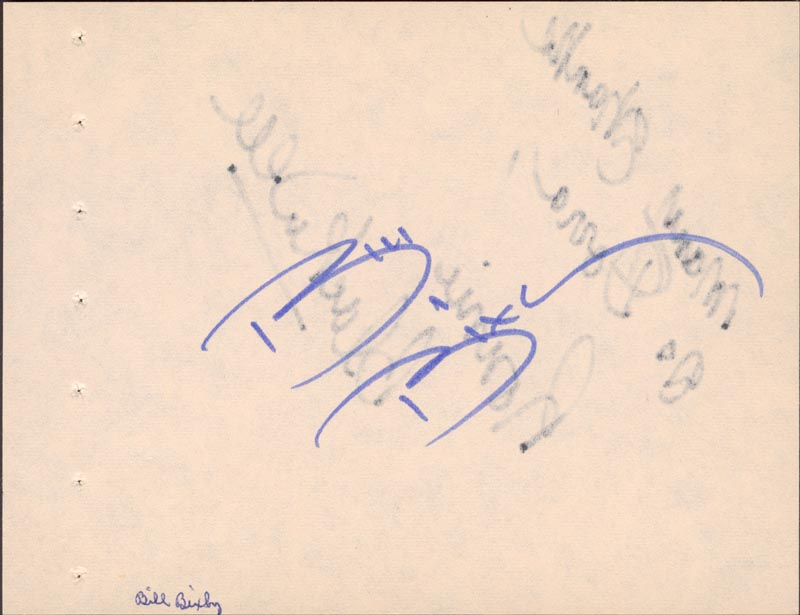 Image 1 for Bill Bixby - Autograph co-signed by: Ronnie Blackwell - HFSID 63361