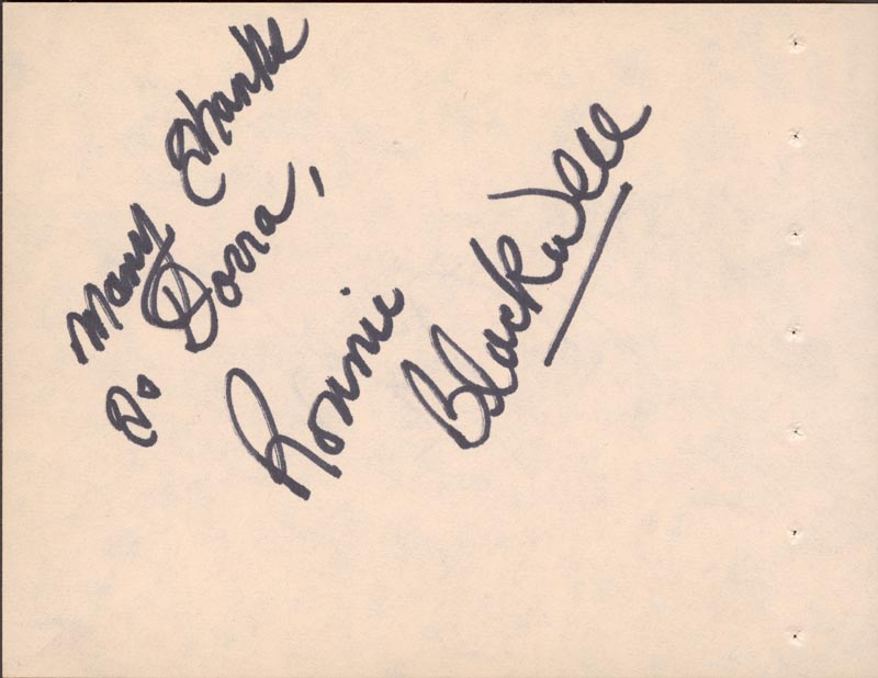 Image 3 for Bill Bixby - Autograph co-signed by: Ronnie Blackwell - HFSID 63361