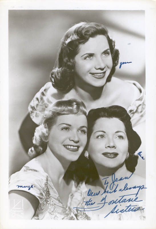 Image 1 for The Fontane Sisters - Autographed Inscribed Photograph with co-signers - HFSID 65524