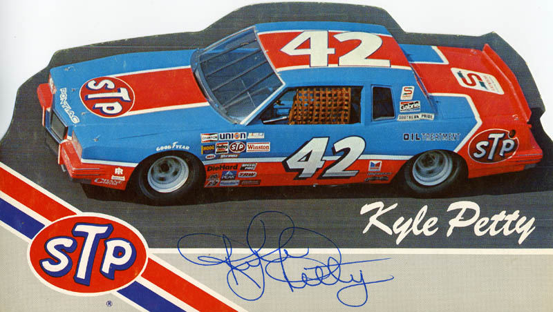 Image 1 for Kyle Petty - Printed Photograph Signed In Ink - HFSID 65529