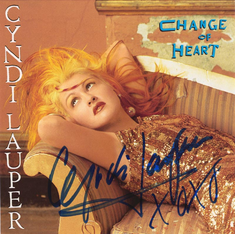 Image 1 for Cyndi Lauper - Record Cover Signed - HFSID 65570