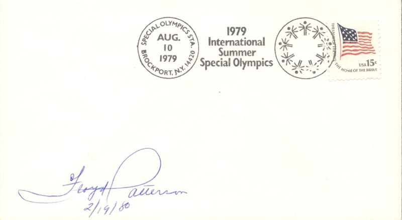 Image 1 for Floyd Patterson - Commemorative Envelope Signed 02/19/1980 - HFSID 65625