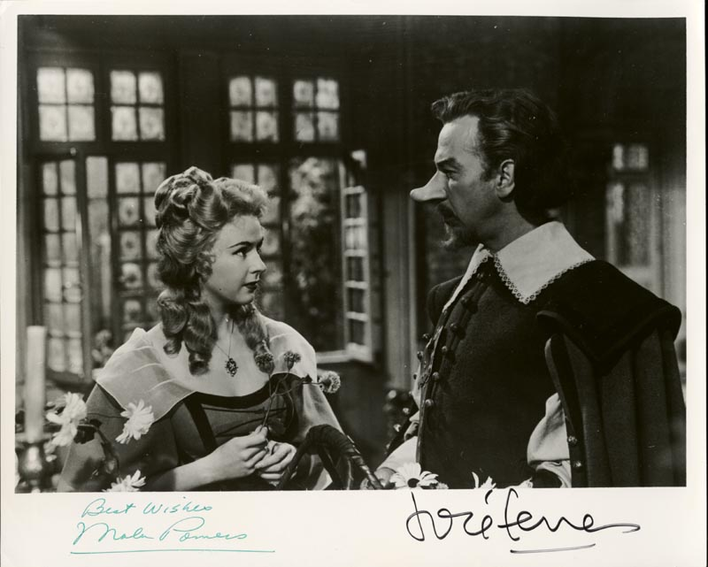 Image 1 for Cyrano De Bergerac Movie Cast - Autographed Signed Photograph co-signed by: Mala Powers, Jose Ferrer - HFSID 65755