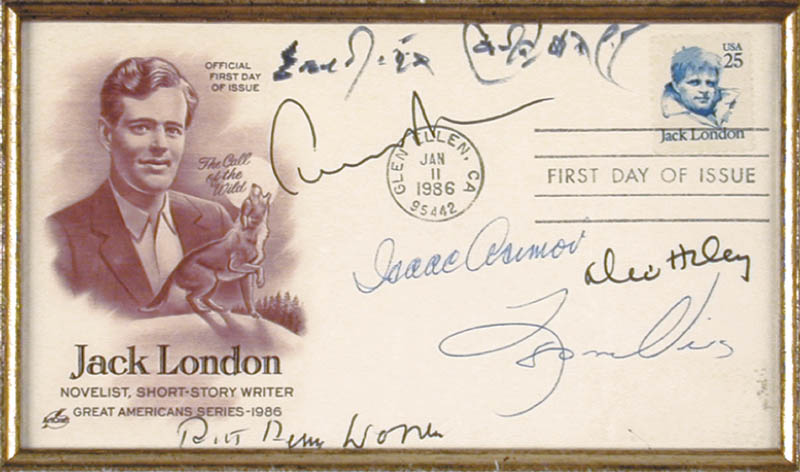 Image 3 for Erskine Caldwell - First Day Cover Signed co-signed by: Isaac Asimov, Robert Penn Warren, Alex Haley, Leon Uris, Edward Albee - HFSID 65893