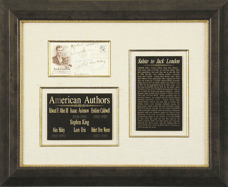 Image 1 for Erskine Caldwell - First Day Cover Signed co-signed by: Stephen King, Isaac Asimov, Robert Penn Warren, Alex Haley, Leon Uris, Edward Albee - HFSID 65894
