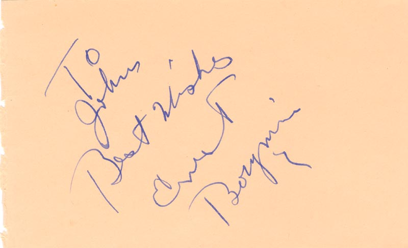 Image 1 for Ernest Borgnine - Autograph Note Signed - HFSID 67096
