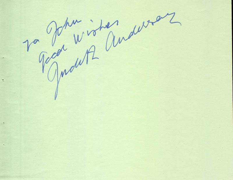 Image 1 for Dame Judith Anderson - Autograph Note Signed - HFSID 67136