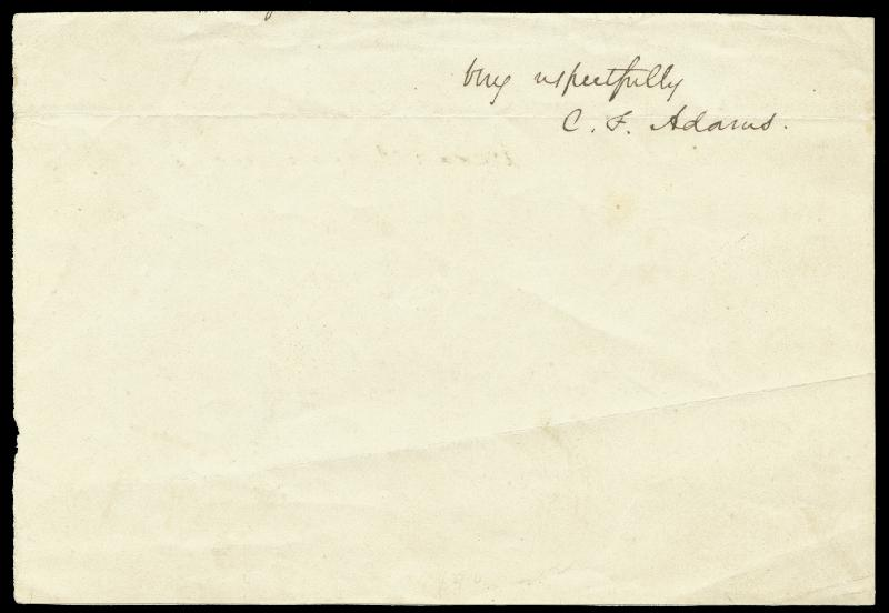 Image 1 for Charles F. 'Grandson Of Jq' Adams II - Autograph Sentiment Signed - HFSID 67404