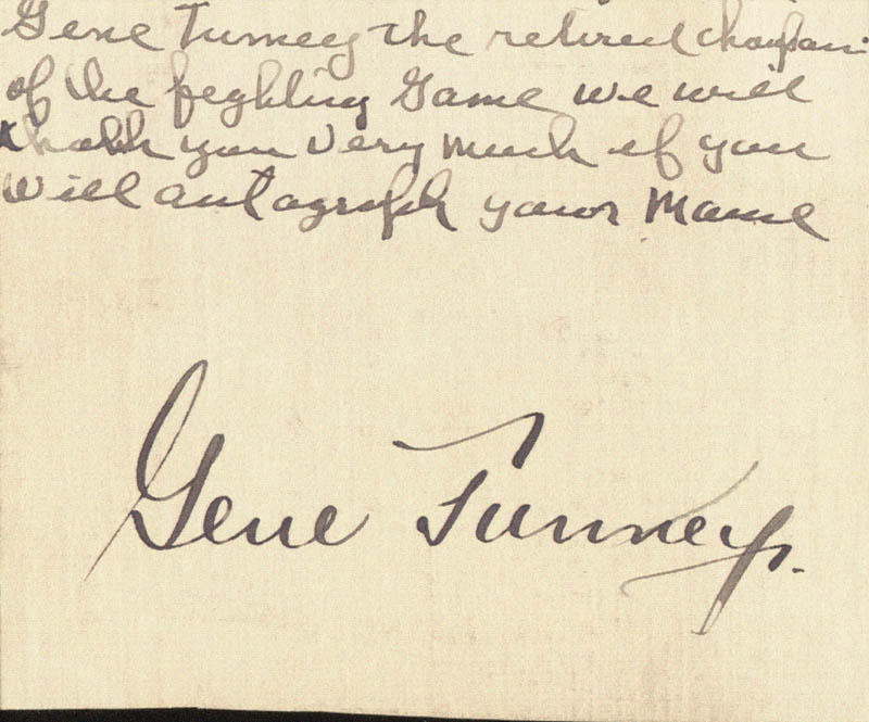 Image 1 for Gene Tunney - Autograph - HFSID 67485