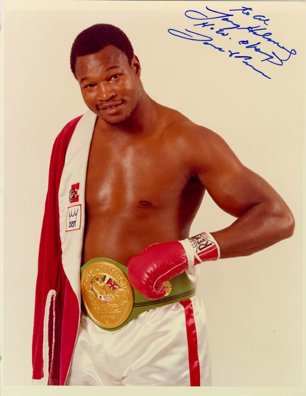 Image 1 for Larry Holmes - Autographed Inscribed Photograph - HFSID 67584