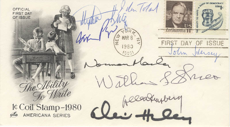 Image 1 for Alex Haley - First Day Cover Signed with co-signers - HFSID 67649