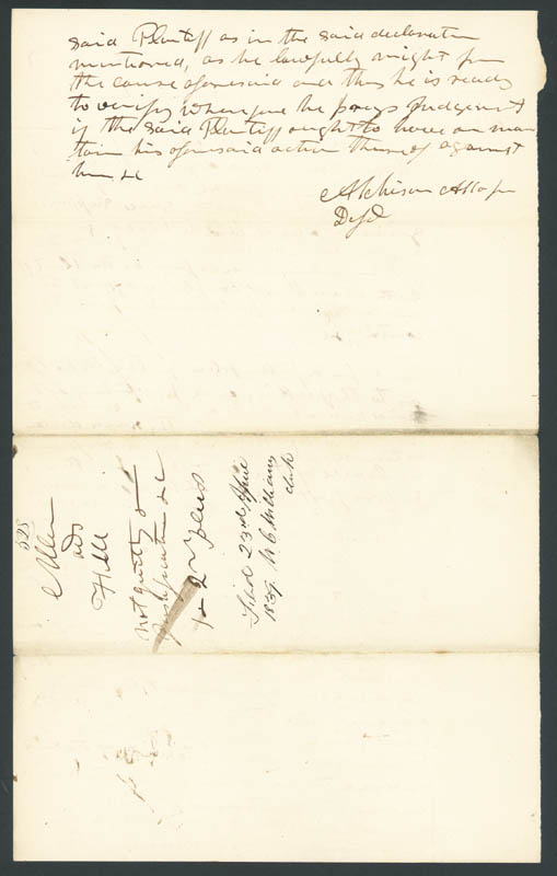 Image 3 for David R. Atchison - Autograph Document Signed 04/23/1839 - HFSID 67665