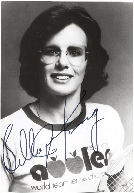 Image 1 for Billie Jean King - Autographed Signed Photograph - HFSID 67715