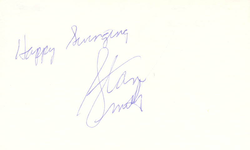 Image 1 for Stan (Stanley Roger) Smith - Autograph Sentiment Signed - HFSID 67722