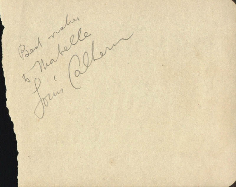 Image 1 for Louis Calhern - Autograph Note Signed - HFSID 67748