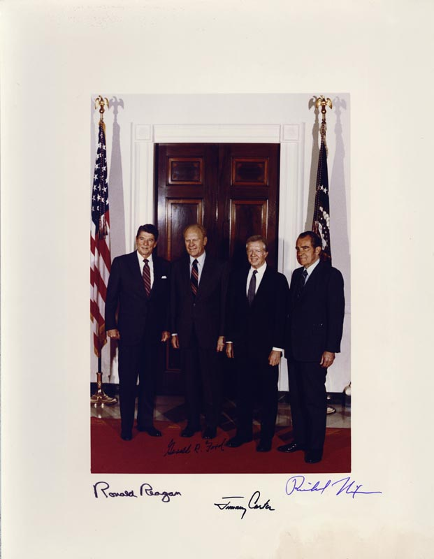 Image 1 for The Three Presidents - Autographed Signed Photograph with co-signers - HFSID 67895