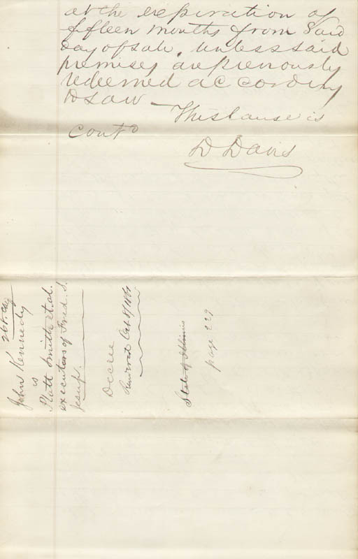 Image 1 for Associate Justice David D. Davis - Autograph Document Signed 10/08/1861 - HFSID 67911