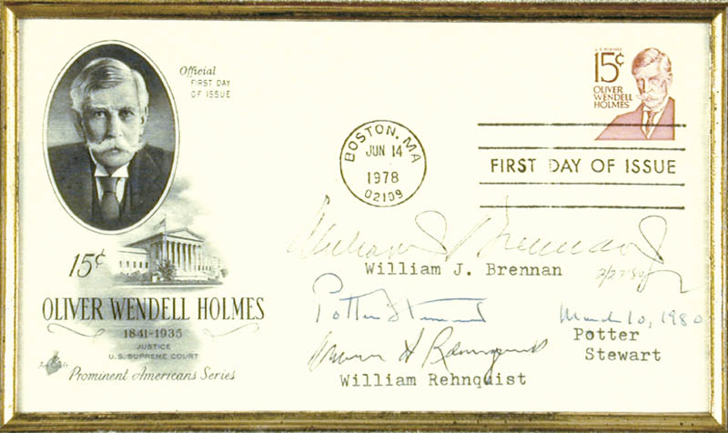 Image 3 for Chief Justice William H. Rehnquist - First Day Cover Signed 1980 with co-signers - HFSID 67929
