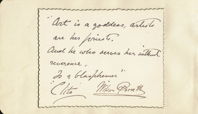 Image 1 for Wilson Barrett - Autograph Quotation Signed - HFSID 68027