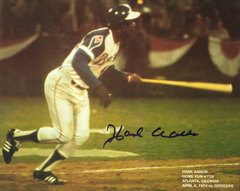 Image 1 for Hank Aaron - Autographed Signed Photograph - HFSID 69583