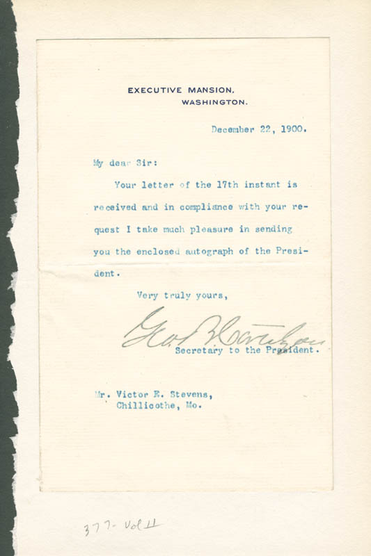 Image 1 for George B. Cortelyou - Typed Letter Signed - HFSID 7000053