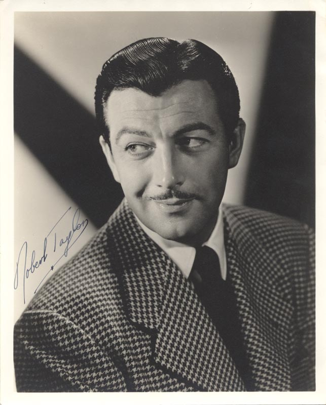 Image 1 for Robert Taylor - Autographed Signed Photograph - HFSID 70252