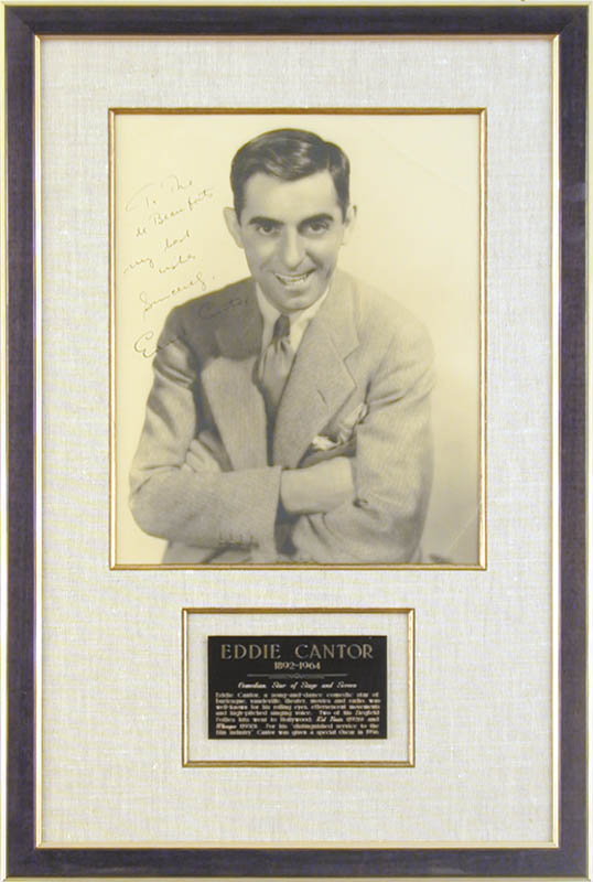 Image 1 for Eddie Cantor - Autographed Signed Photograph - HFSID 70278