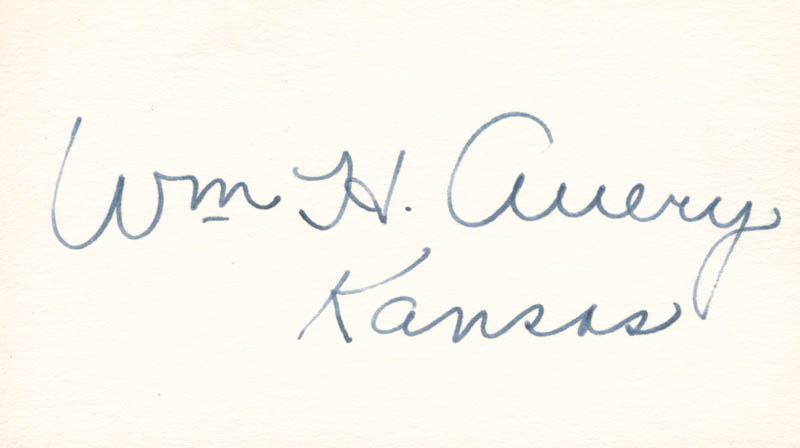 Image 1 for William H. Avery - Autograph - HFSID 70340
