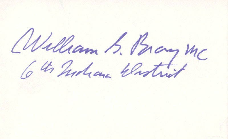 Image 1 for William G. Bray - Autograph - HFSID 70442