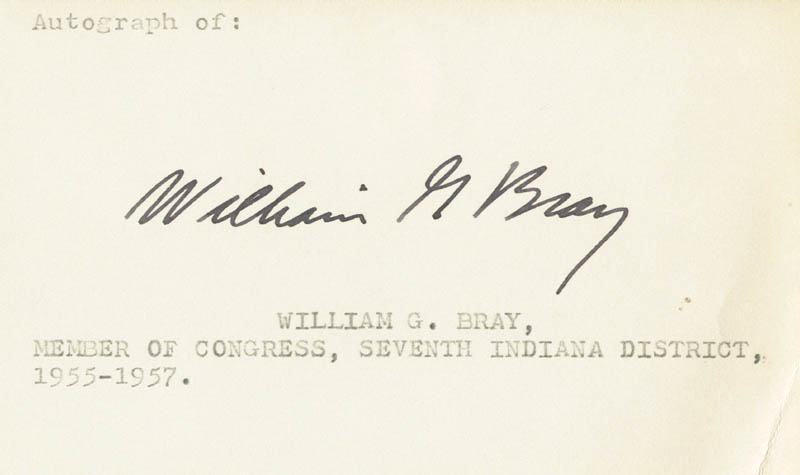 Image 1 for William G. Bray - Autograph - HFSID 70443