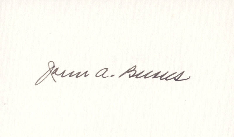 Image 1 for Governor John A. Burns - Autograph - HFSID 70471