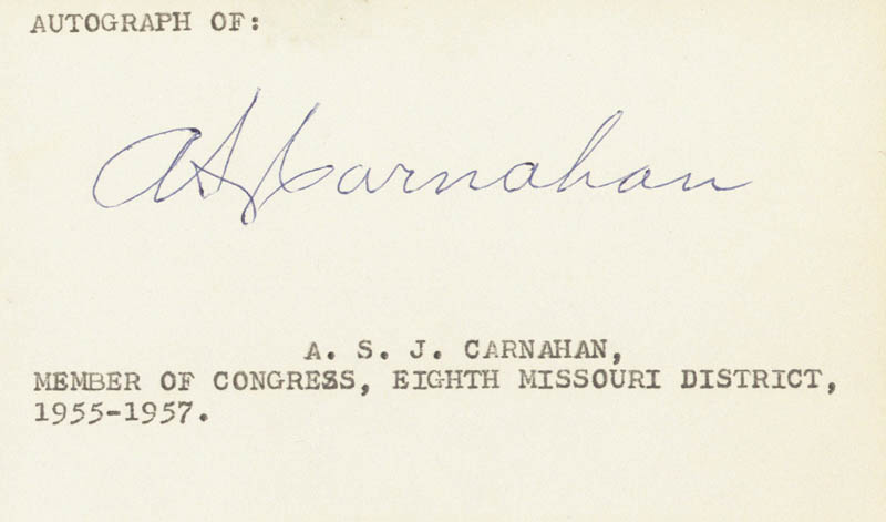 Image 1 for Albert Sidney Johnson Carnahan - Autograph - HFSID 70509